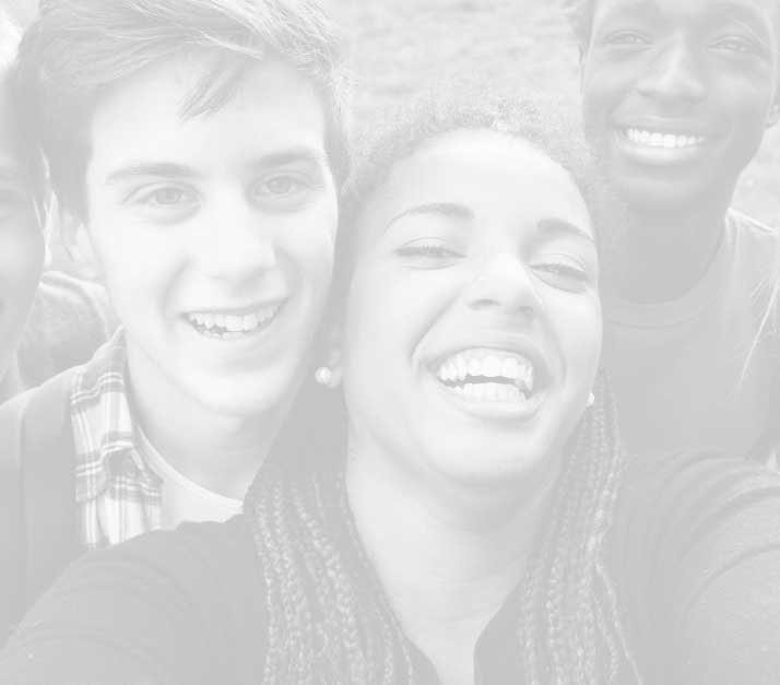 Photo of smiling teenagers