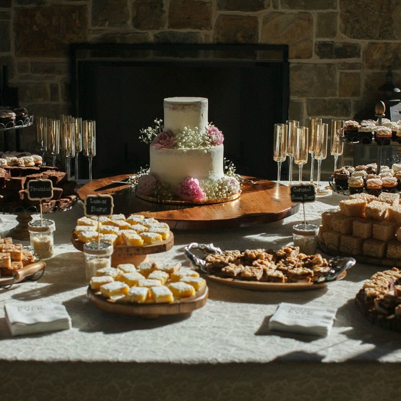 The couples wedding dessert table.