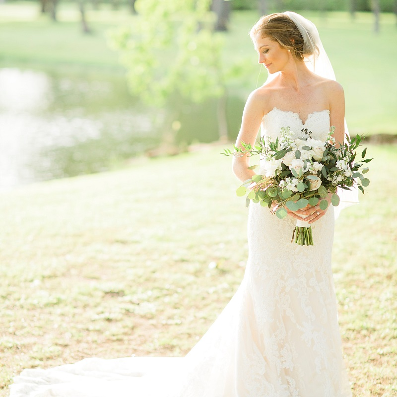 The beautiful bride on her wedding day.