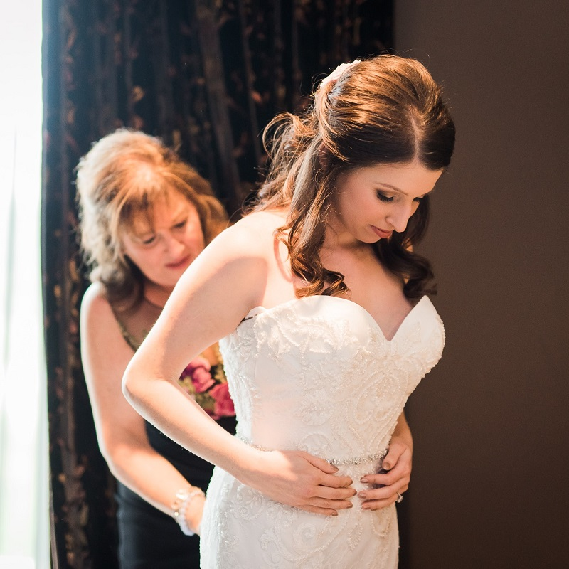 The bride and her mother prior to the ceremony.