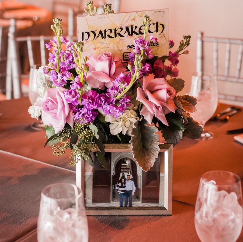 Centerpiece option for the wedding reception.