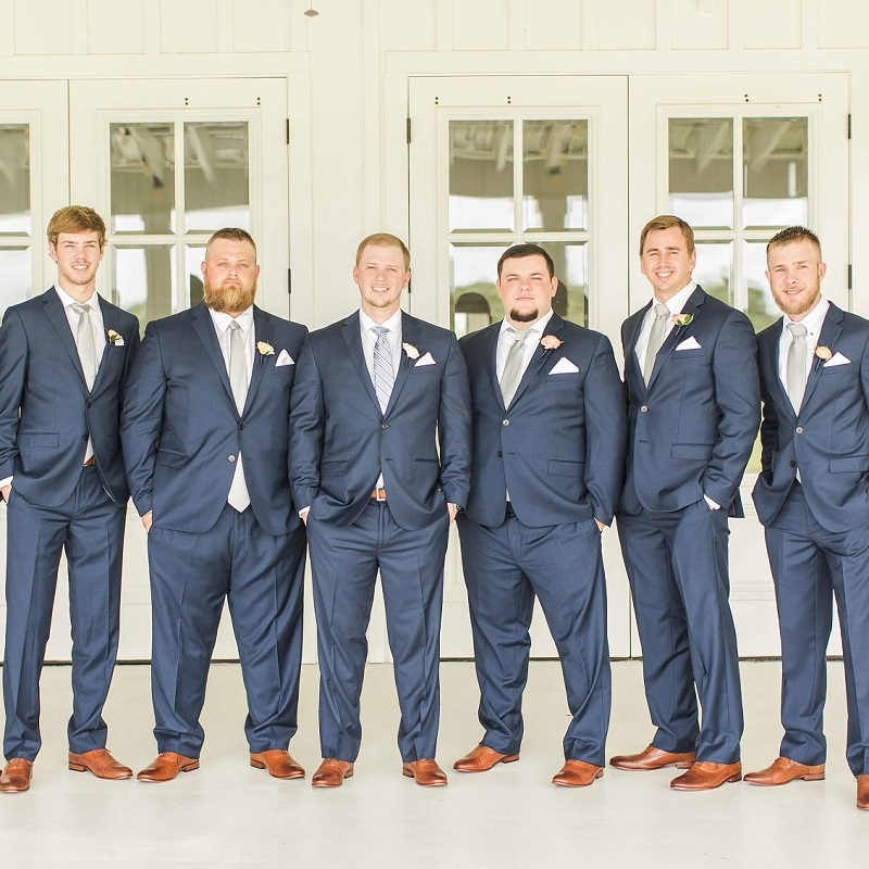 The groom and groomsmen.