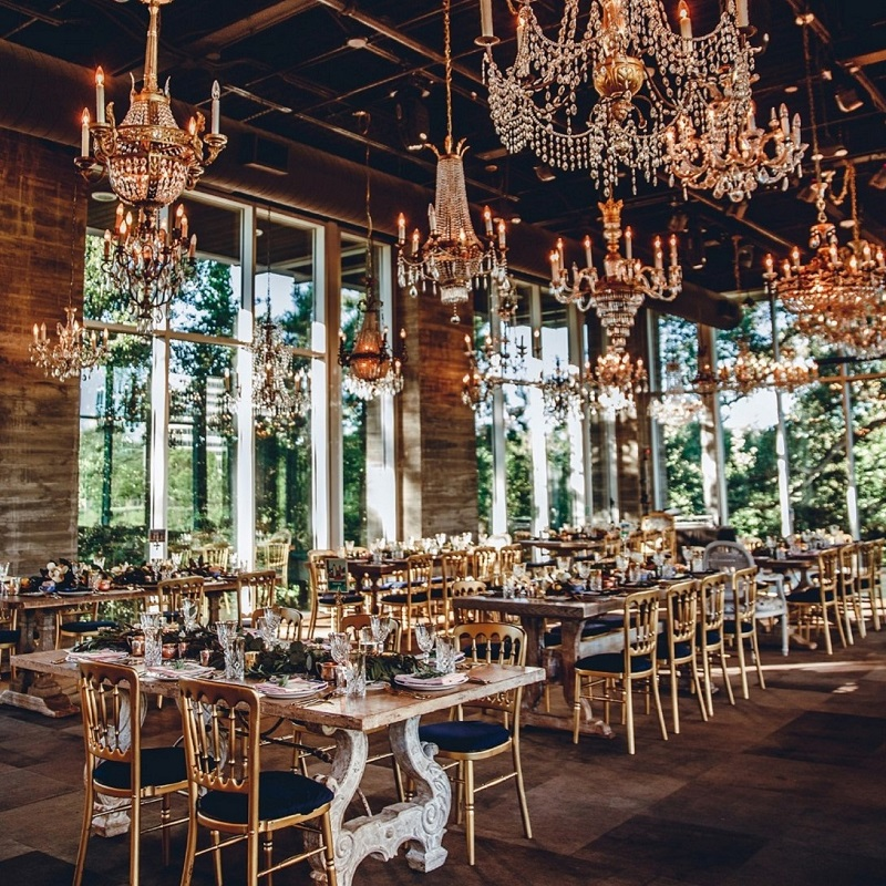 Detail shot of the wedding venue.
