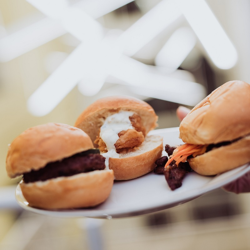 Slider options from the amazing wedding catering company.