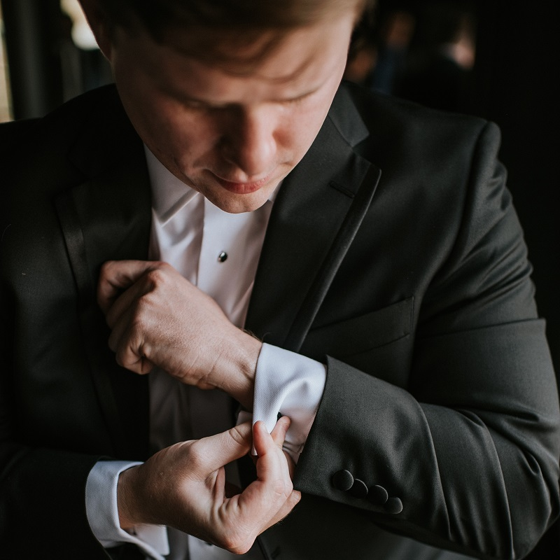 The grom getting ready for his wedding day.