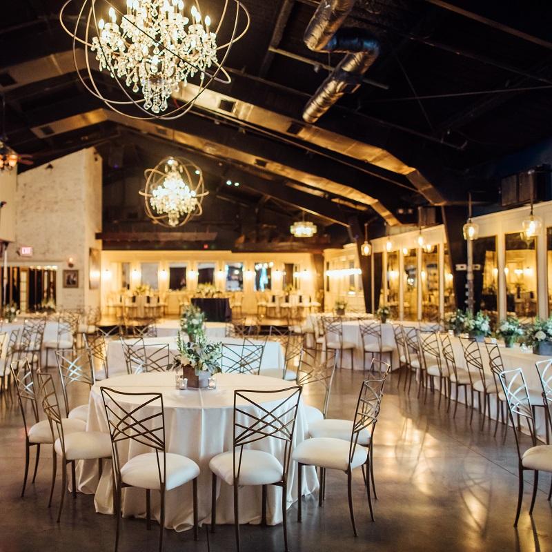 The wedding reception venue.