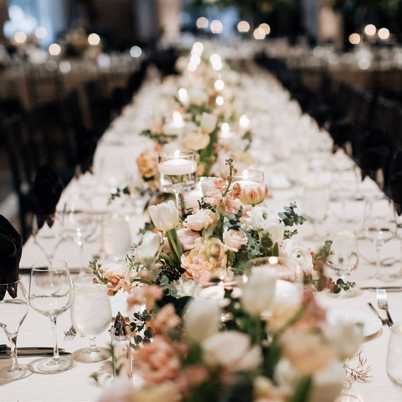 Floral Detail and Reception Shot