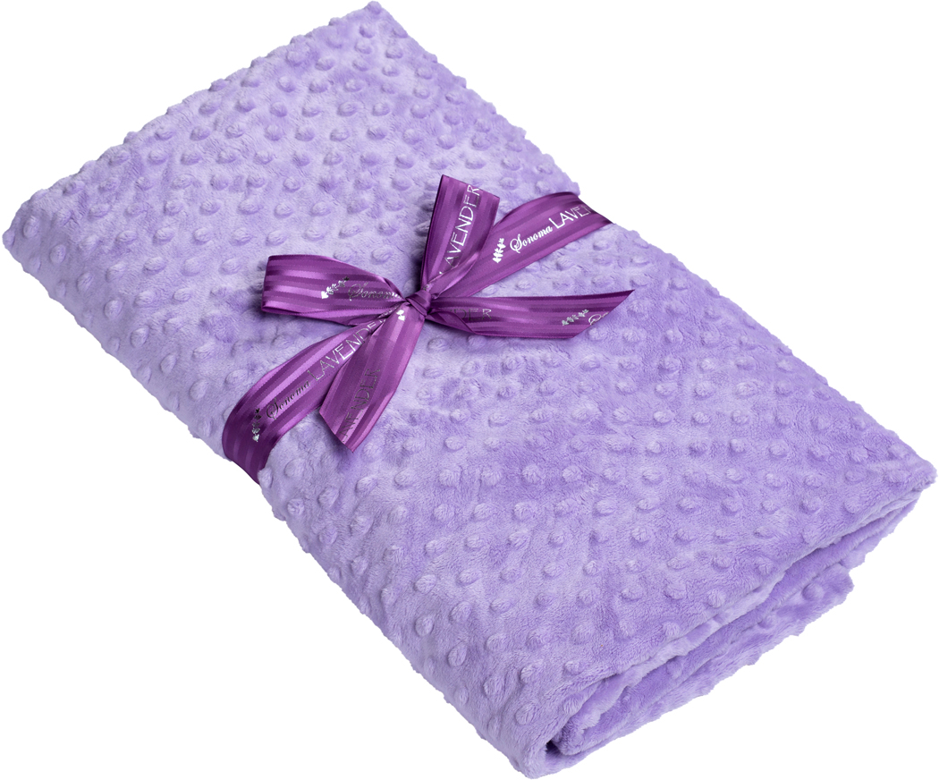 heated lavender spa blanket