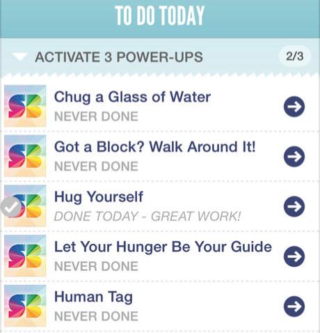 SuperBetter app screenshot