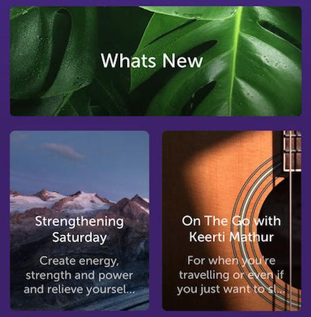 Sattva Meditations and Mantra app screenshot