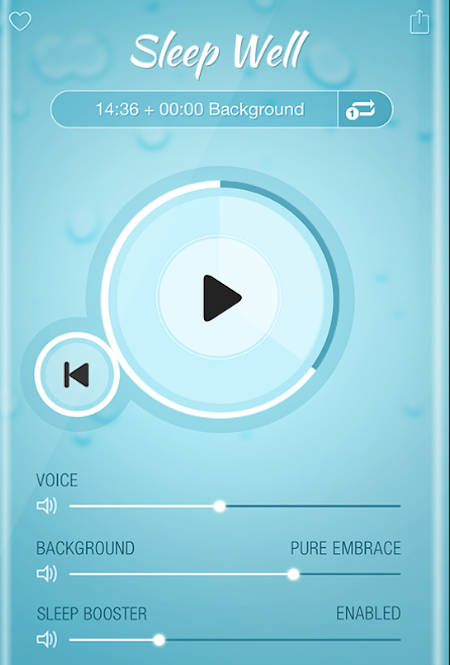 Sleep Well Hypnosis app screenshot