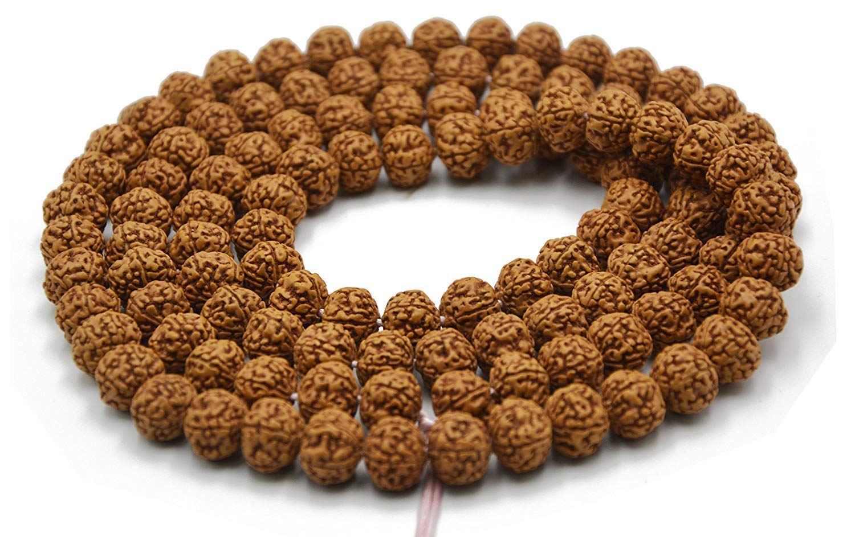 Rudraksha seed mala necklace