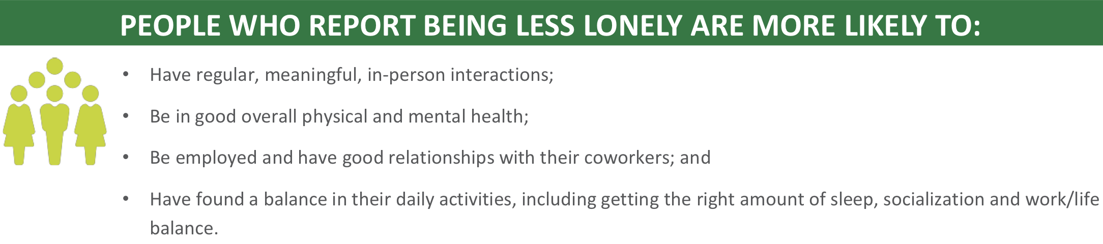 list of what people who report being less likely are more likely to have