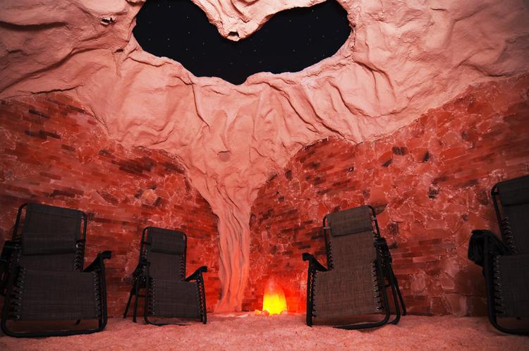 Himalayan salt cave at Peace, Love and Zen