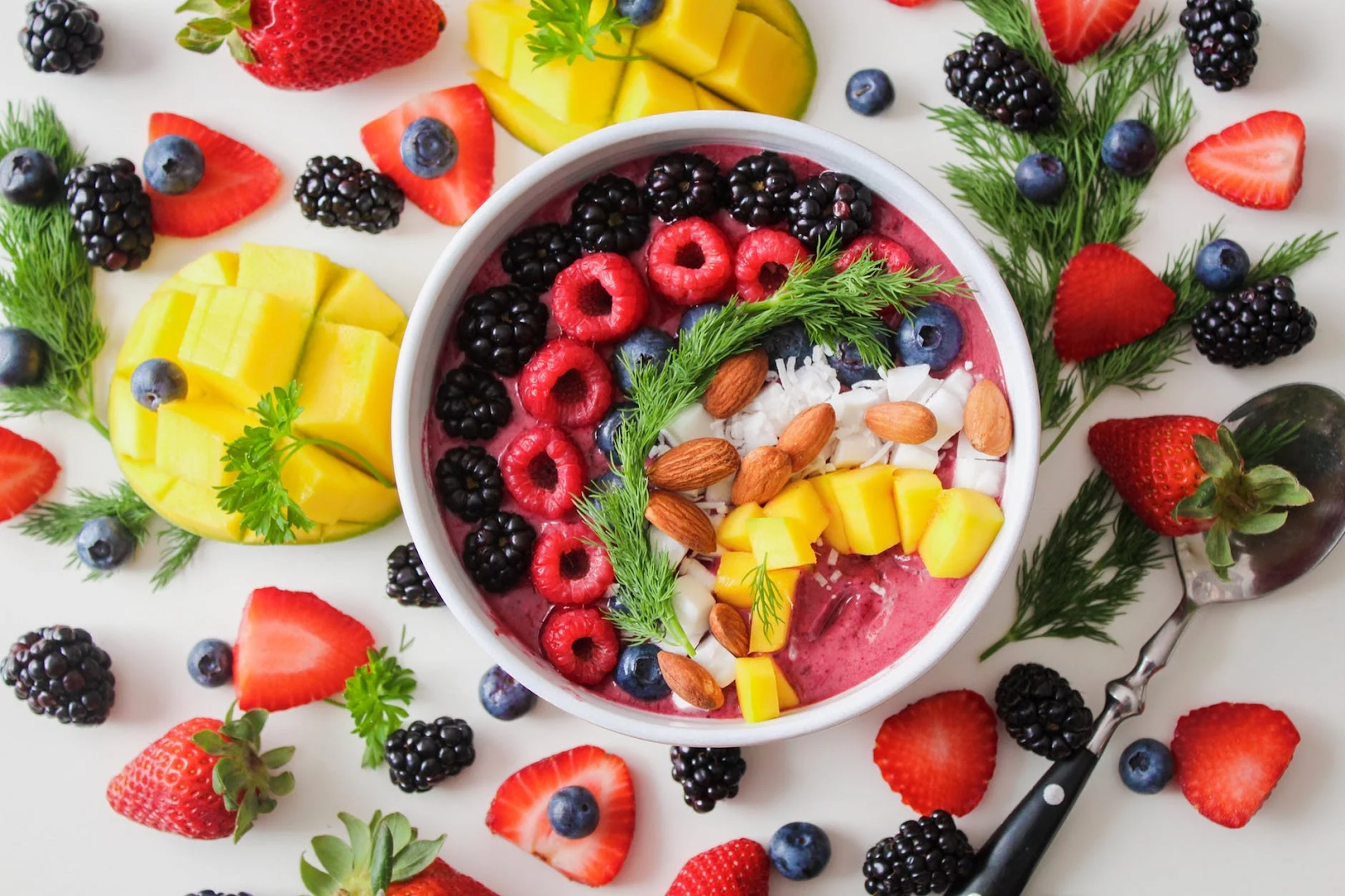 Acai Smoothie Bowl with Assorted Fruits