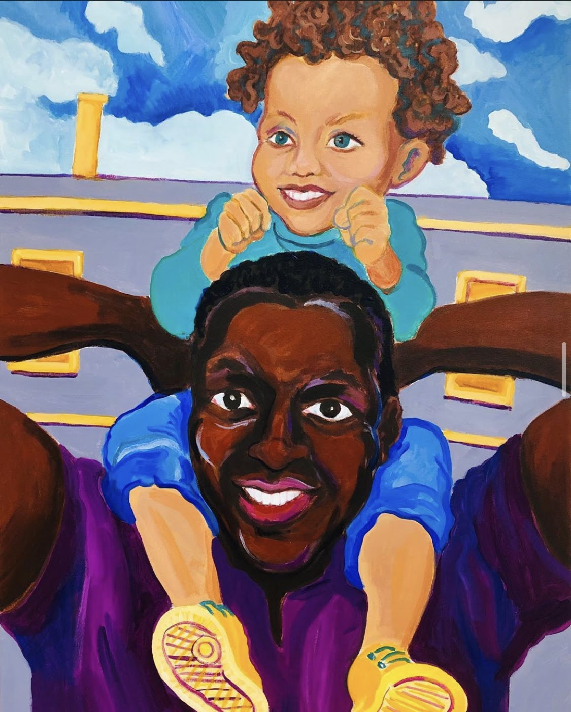 Just as you hold up your child on your shoulders to support them and see a clearer view, support them mentally by providing them the tools to navigate race.