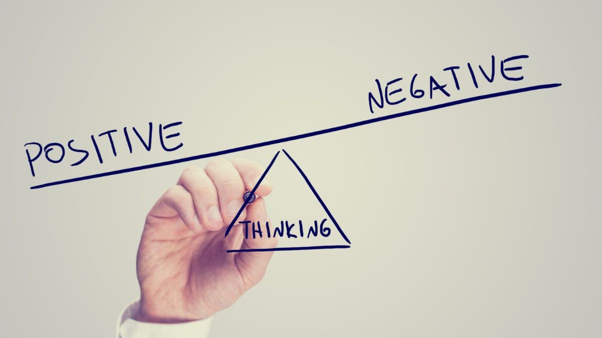 Graph of Positive Versus Negative Thinking