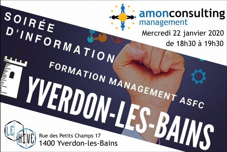 Soirée d'information Amon Consulting à Yverdon-les-Bains 22 janvier 2020