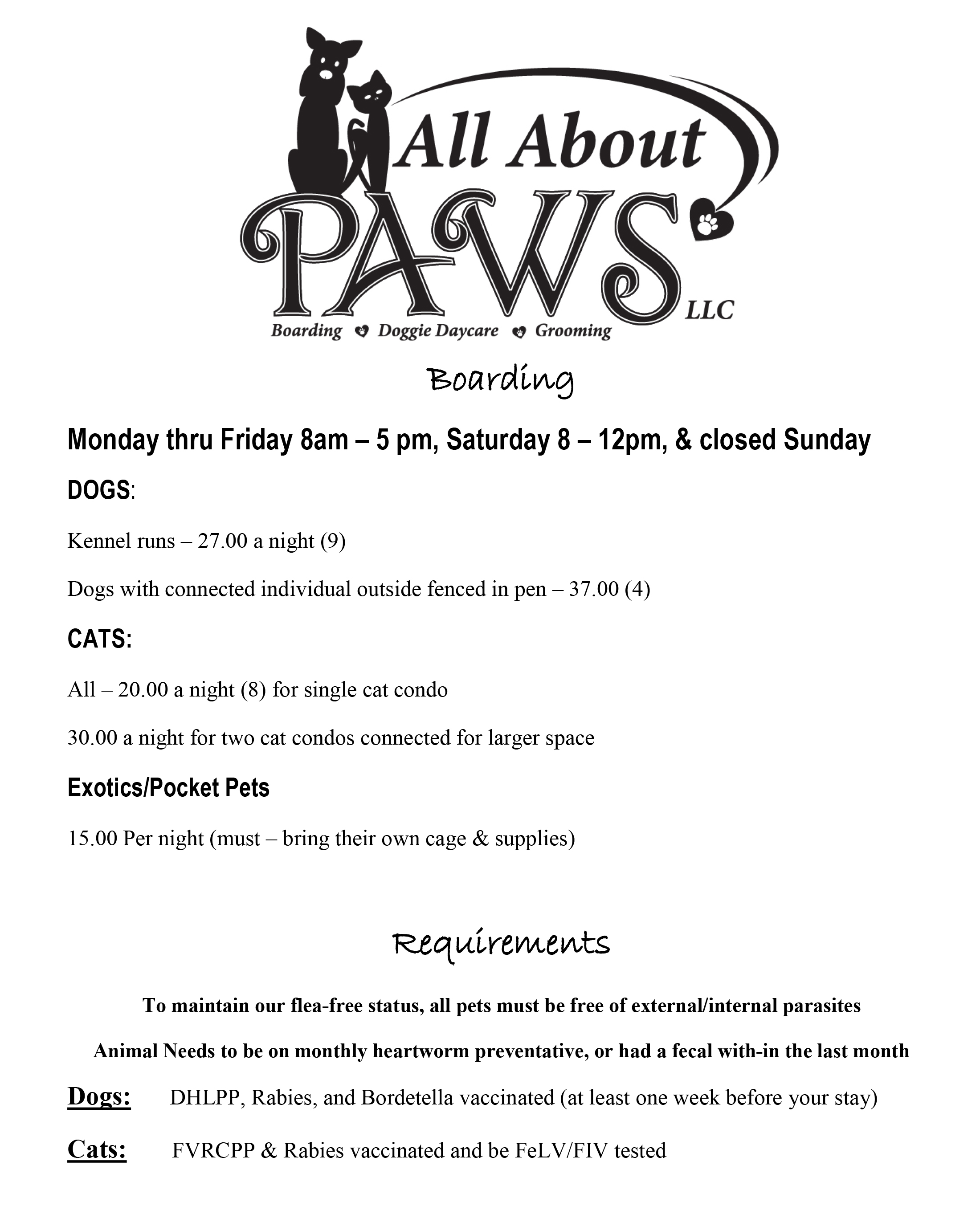 all about paws large logo