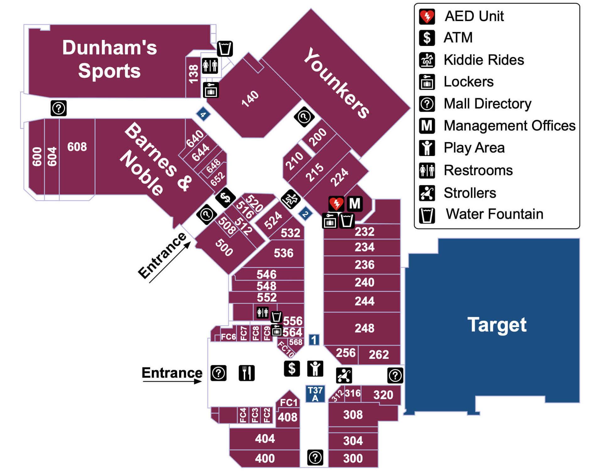 Midland Mall Map