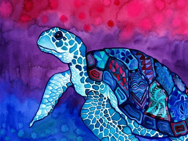 painting of a sea turtle