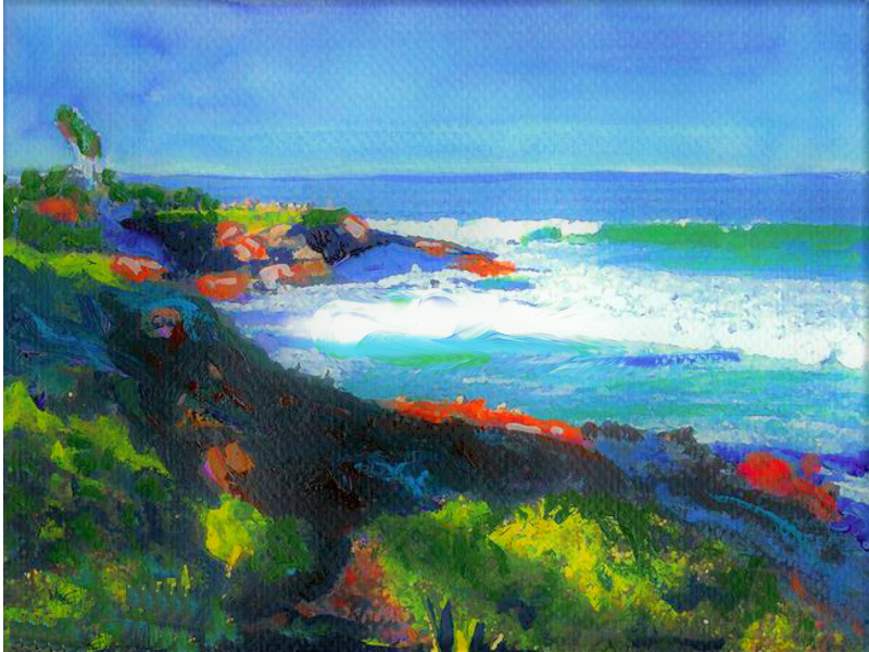 Painting of La Jolla Cove in San Diego, CA.