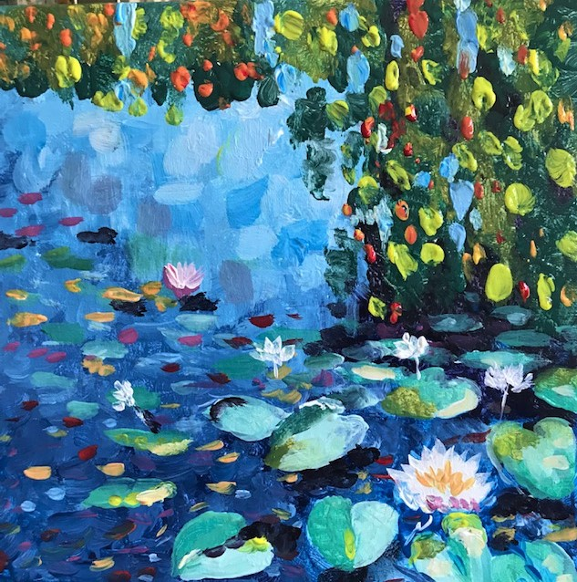 Painting of Clause Monet's Water Lillies.