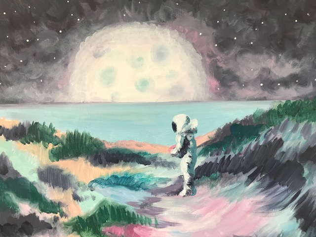 Abstract painting of an Astronaut