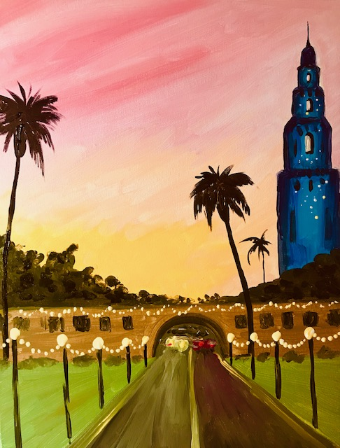 Painting of Balboa Park in San Diego, CA.