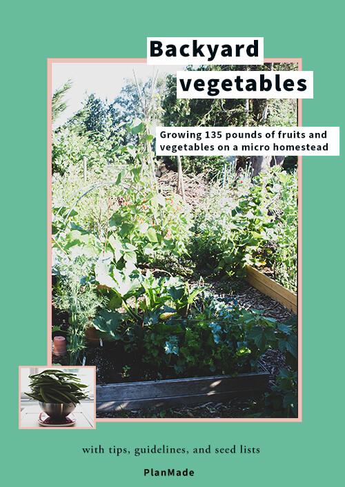 Backyard vegetables