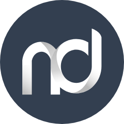 novitech digital logo in blue
