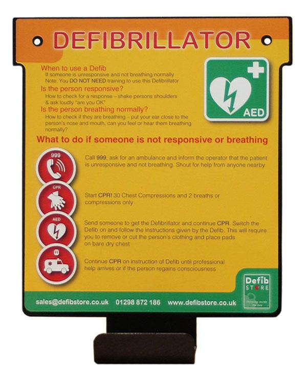 Indoor Universal Defibrillator Wall Hanger