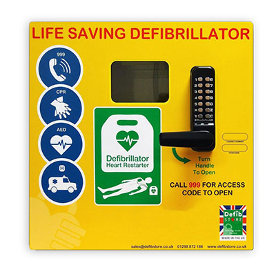 Defib Store 1000 Mild Steel Cabinet with Keypad Lock