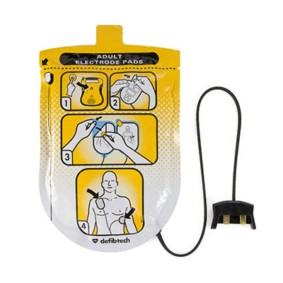Defibtech Lifeline Defibrillator Adult Pads