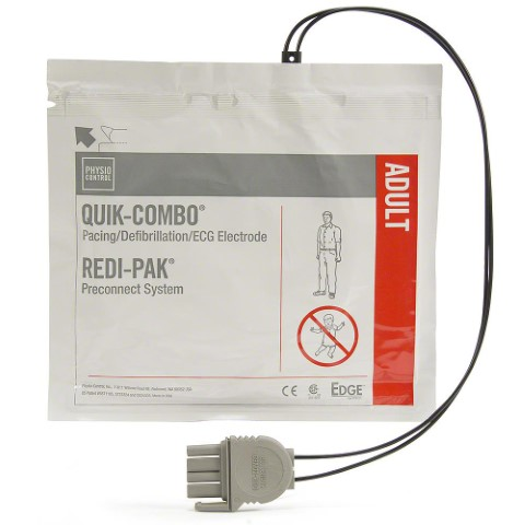 LIFEPAK 15, LIFEPAK 500,LIFEPAK 1000, LIFEPAK 12, LIFEPAK 20e Quik-Combo Electrodes with Redi-Pak Pre-Connect System