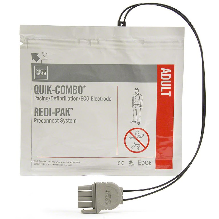 LIFEPAK 15, LIFEPAK 500, LIFEPAK 1000, LIFEPAK 12, LIFEPAK 20e Quik-Combo Electrodes with Redi-Pak Pre-Connect System