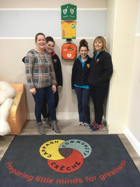Staff at Cappagh Community Creche delighted to have their new CE-TEK Medical Defibrillator and Signage Installed.