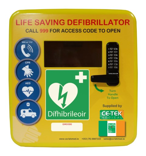 Defib Store 4000 Polycarbonate Heated Cabinet with Keypad Lock