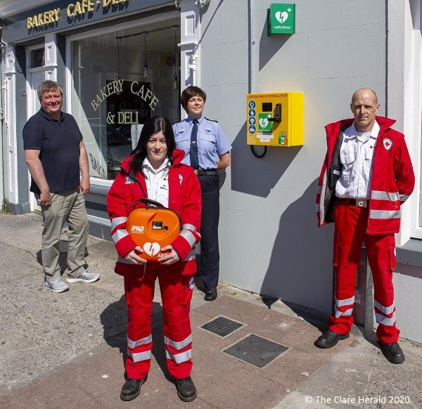 Irish Red Cross installs Defibrillator in Ennistymon