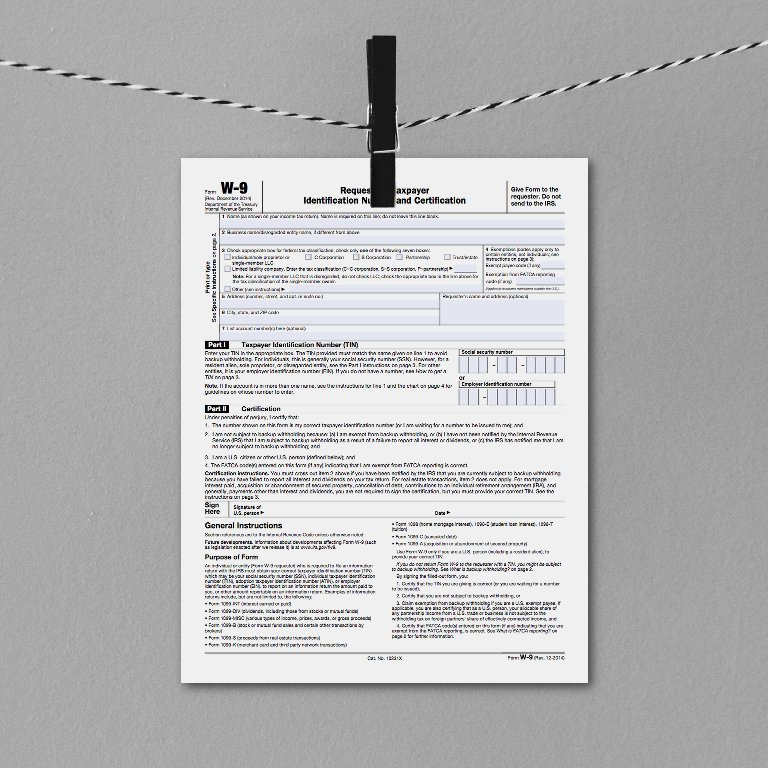 IRS form W9