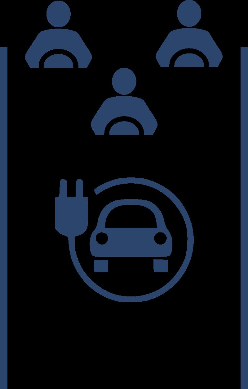 shared parking spot ev charging