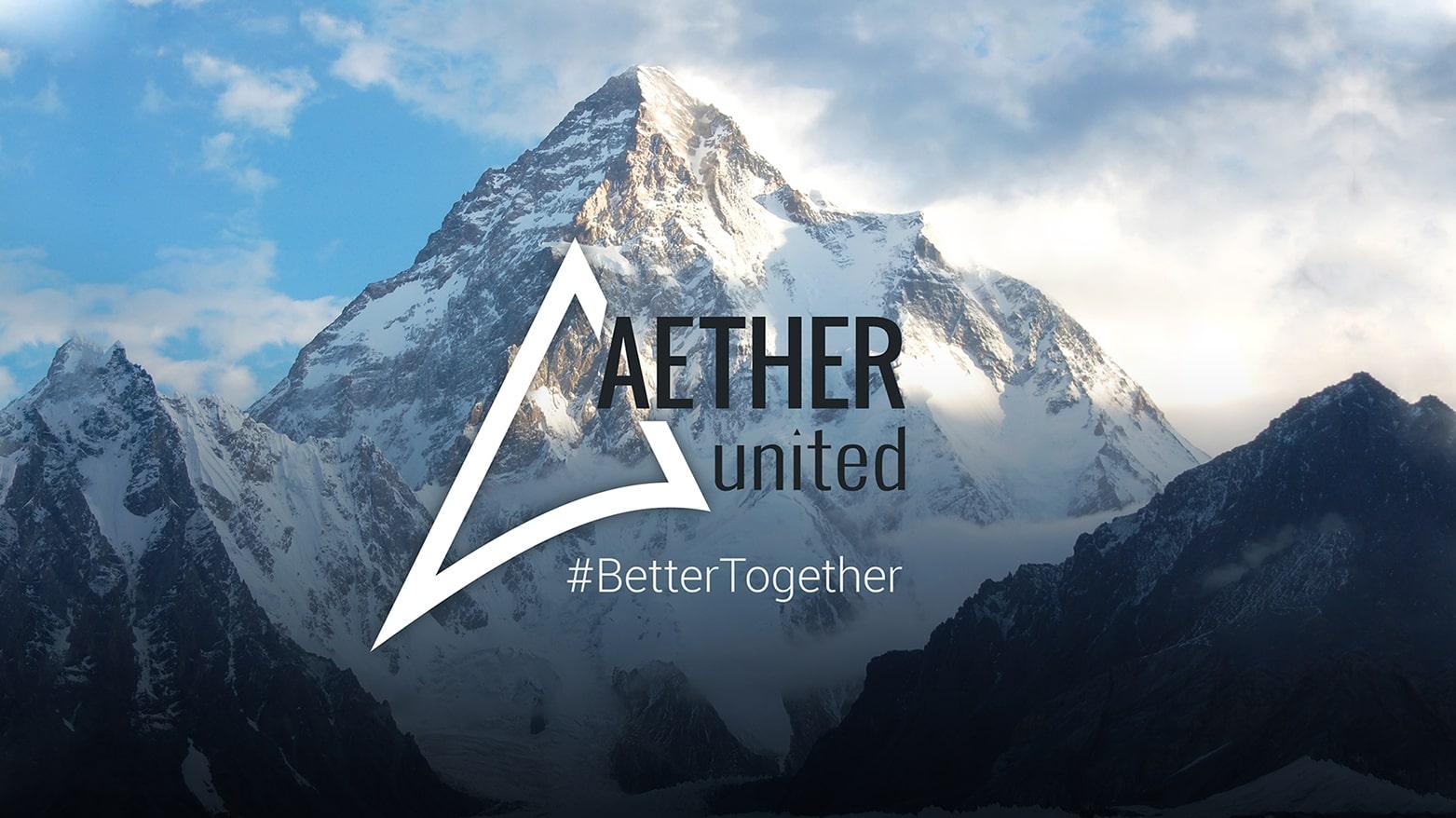 Aether United marketing assets by Alisha Rosen