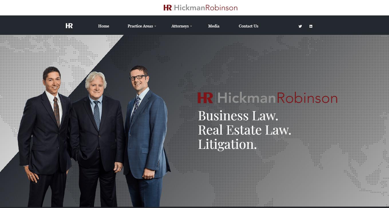 The website of Hickman & Robinson by Alisha Rosen