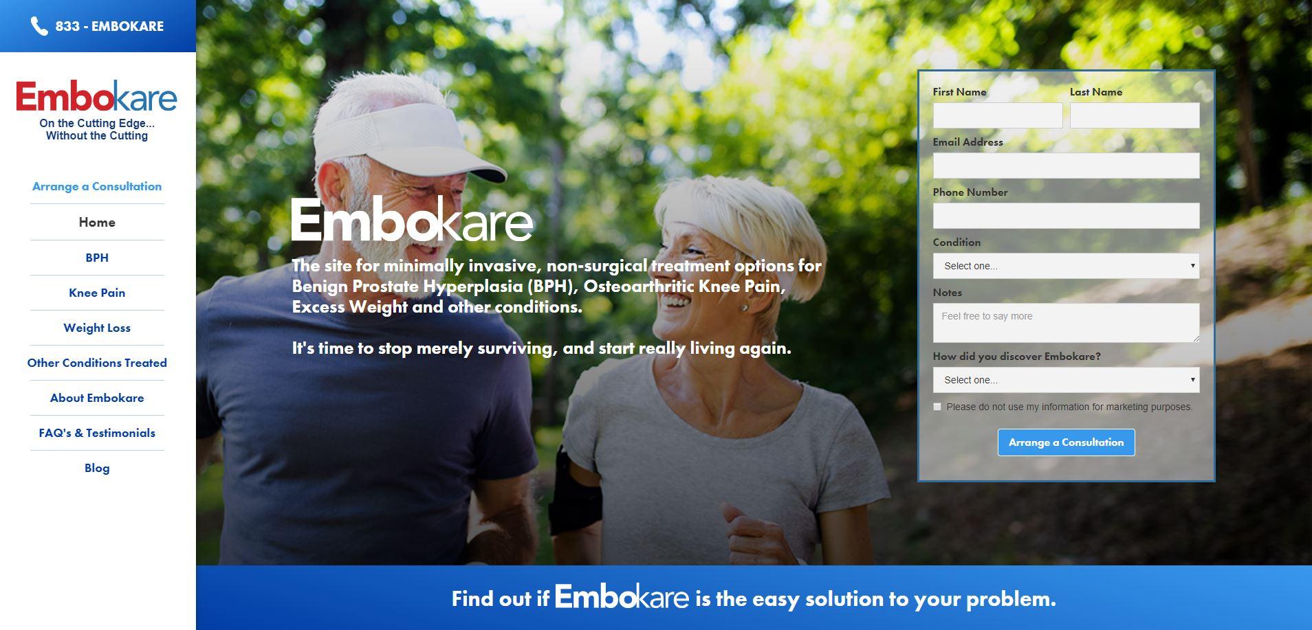Embokare Website by Alisha Rosen
