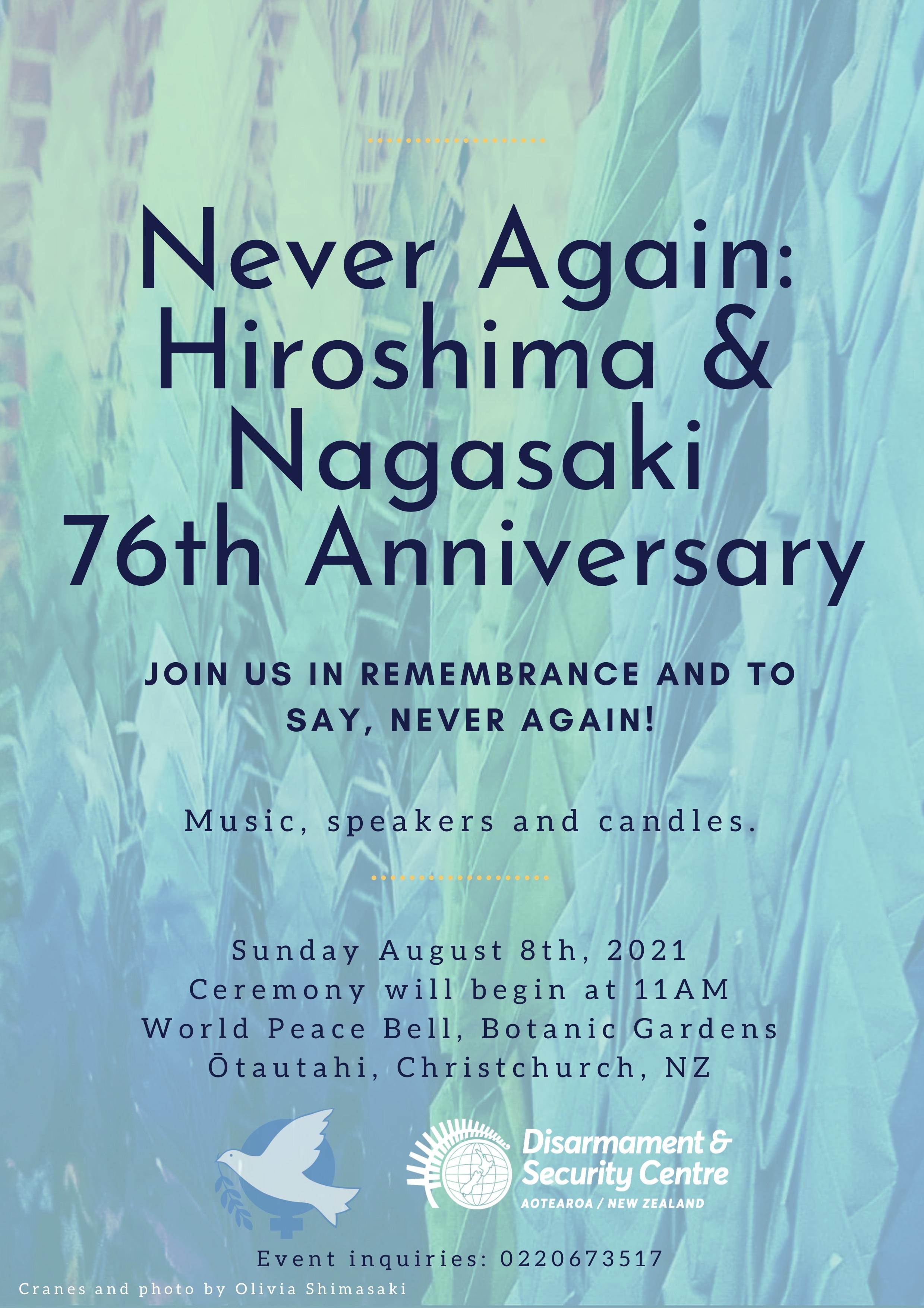 Hiroshima and Nagasaki Commemoration