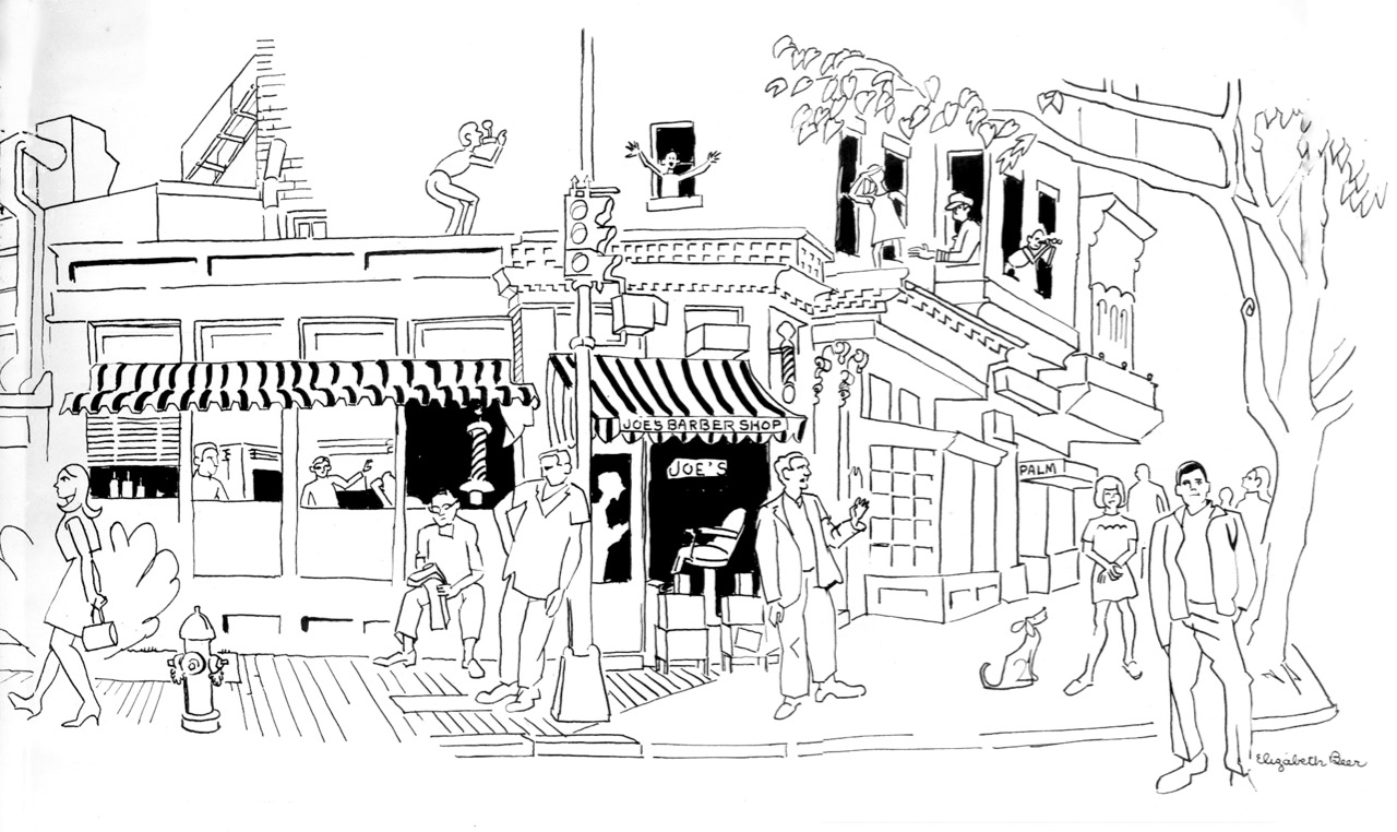 Drawing of Third Street and Pennsylvania Avenue SE
