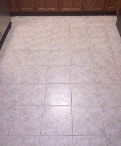 after a tile & grout cleaning project
