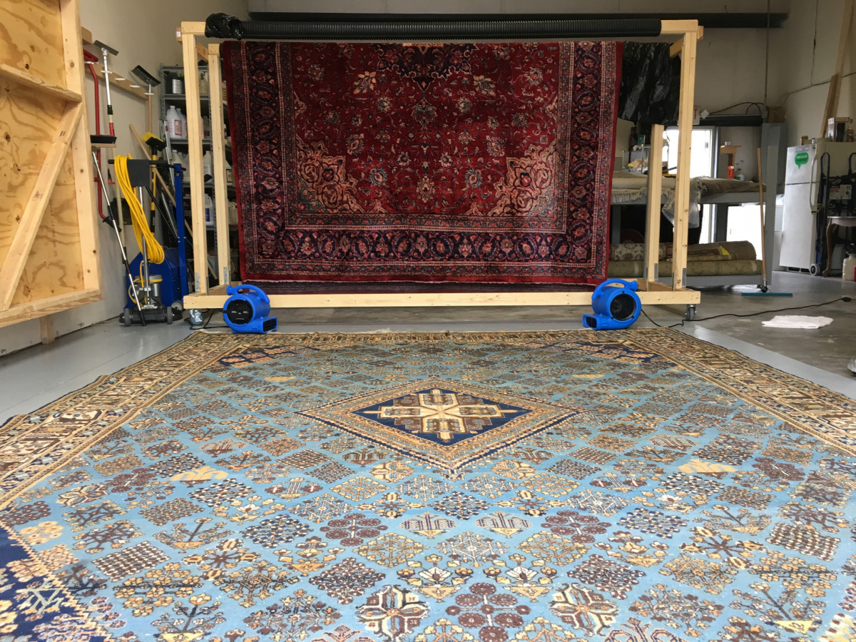commercial drying area rug
