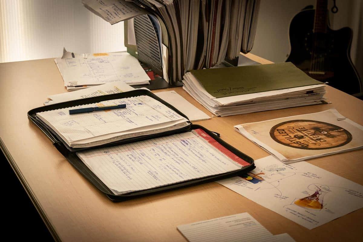 steve slais creative working desk
