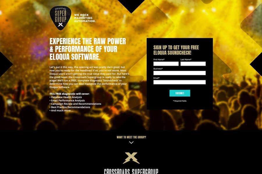 spoke marketing tradeshow landing page